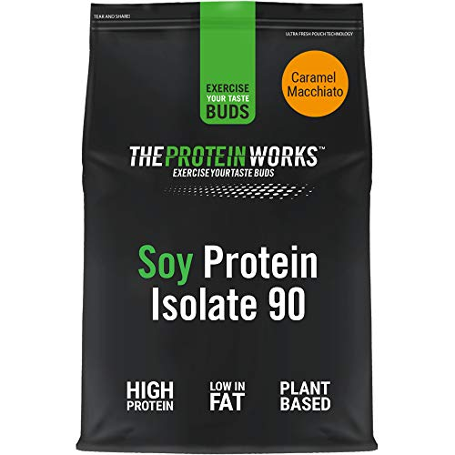 Soy Protein 90 (Isolate) Protein Powder | 100% Plant-Based | Low Fat | No Added Sugar | Gluten-Free | THE PROTEIN WORKS | Caramel Macchiato | 2 Kg