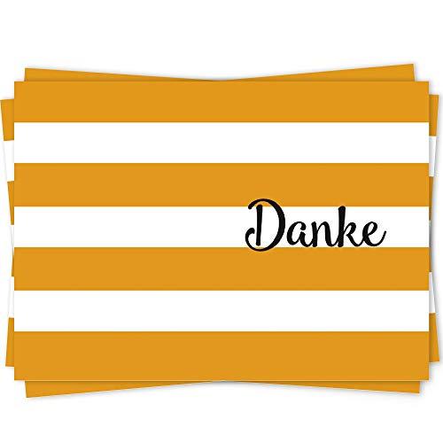 10 Dankeskarten Set, Dankeskarte, Karte Danke, Postkarte Danke, Dankeschön Karten, Thank you cards, Dankeskarten Hochzeit, Danke Karten DIN A6 - Geo11