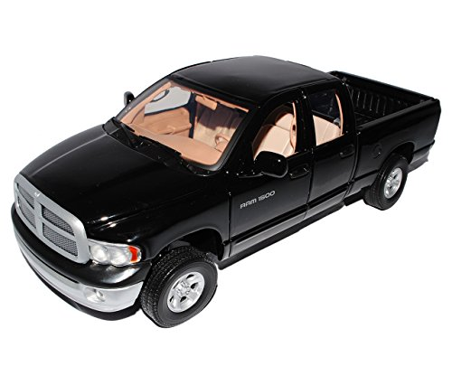Motor Max Dodge Ram Quad Cab 2002 Schwarz Pick Up 1/18 Motormax Modellauto Modell Auto