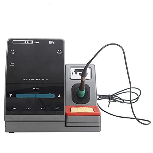 Nano Estación de soldadura Nano soldadura de plástico Herramientas eléctricas Soldadura de retrabajo 2 segundos Calentamiento Huella digital precisa T36 para JB(EU Plug)