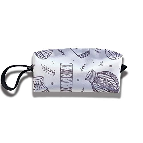Bbhappiness Pouch Handbag Cosmetics Bag Case Purse Travel & Home Portable Make-up Receive Bag Beautiful Vector Vases