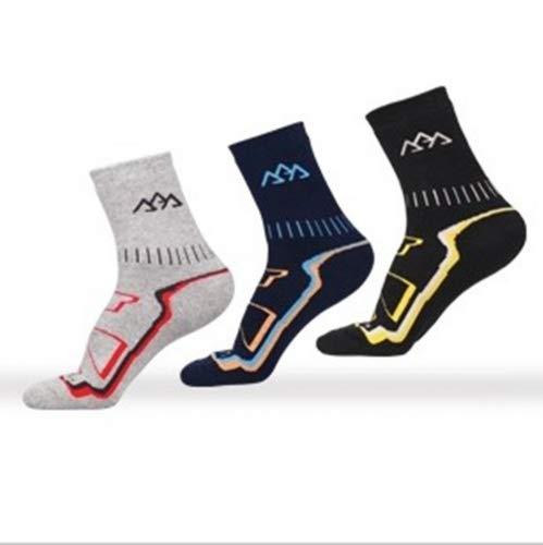Noga Coolmax - Calcetines de montañismo para hombre, 3 unidades, para deportes al aire libre, absorben la humedad, transpirabilidad, calcetines gruesos y cálidos