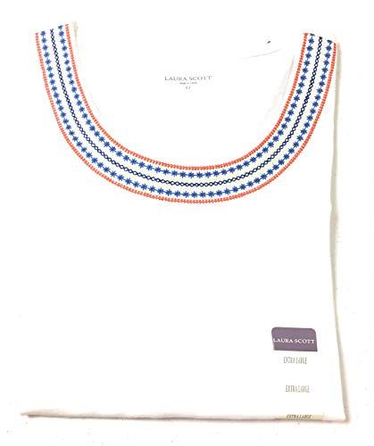 Laura Scott Missy Eyelet/Embroidry Top XL