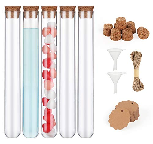 30 Stück Reagenzgläser 20 x150 mm,Reagenzgläser mit Korken + 10 meter Juteschnur,50pcs Anhänger Kraftpapier für Blumen Gastgeschenke Hochzeit Süßigkeiten Badesalz
