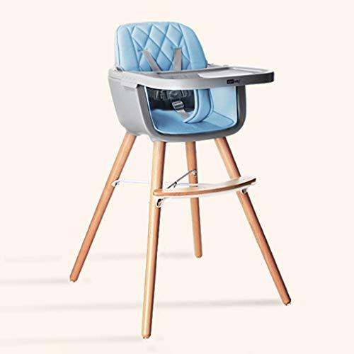 NIVKUIO kinderstoel baby 2 in 1 baby houten kinderstoel Ab geboorte, afneembare verstelbare lade gemakkelijk te reinigen, met 5 punt veiligheid harnas, Combi hoge stoel, voor 6 maanden tot 4 jaar oude kinderen