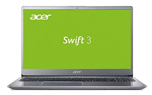 Acer Swift 3 (SF315-52G-84BN) 39,6 cm (15,6 Full-HD IPS matt) Ultrabook (Intel Core i7-8550U, 8 GB RAM, 256 GB SSD, NVIDIA GeForce MX150 (2 GB VRAM), Win 10) silber