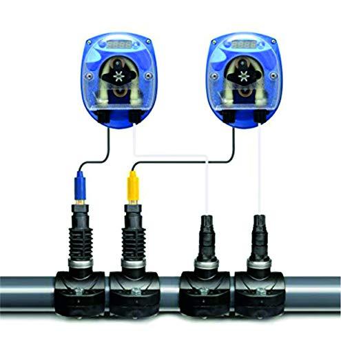 GT Set SEKO CHLOR/REDOX - PH DYNAMIK Pool Automatische Dosieranlage für Schwimmbäder Pool mit Elektroden und komplettem Zubehör und 2 x Sauglanze DIN51 x 480 mm für 25 Liter Kanister