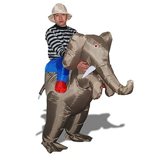 Eurowebb Costume éxplorateur sur le dos d'éléphant déguisement avec chapeau