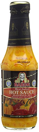 Baron West Indian Hot Pepper Sauce 14oz (Pack of 1)
