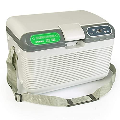 FFAN Refrigerador de Coche 12 litros Mini Nevera 12 / 24v / 220v Refrigerador de Coche Vehículo portátil Nevera de Camping Congelador Refrigerador eléctrico Caja de Coche Hogar de Doble Uso Good Life
