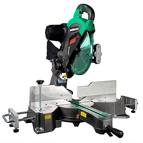 "Metabo HPT 12"" Sliding Compound Miter Saw, Double Bevel, Laser Marker, Compact Slide System, 15-Amp Motor, Large Sliding Fences, 5 Year Warranty (C12RSH2S)"