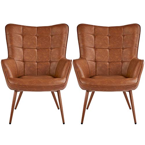 Yaheetech Faux Leather Leisure Chair Accent Chair Armchair Upholstered...