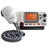 Cobra MR F77W GPS Fixed Mount VHF Marine Radio – 25 Watt VHF, Built-In GPS Receiver, Submersible, LCD Display, Noise Cancelling Mic, NOAA Weather, Signal Strength Meter, Scan Channels, White