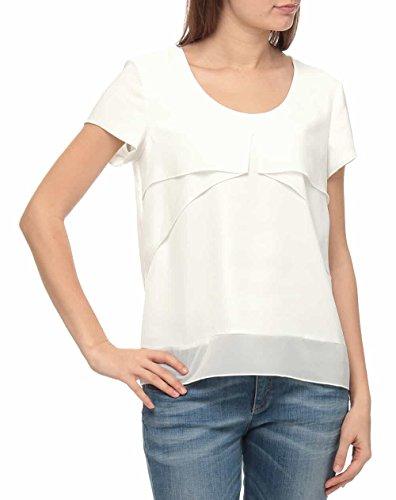 Sisley Blouse Camicia, Bianco (Snow White 074), Medium Donna