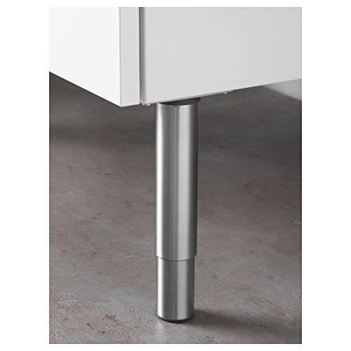 IKEA GODMORGON - Pata redonda de acero inoxidable (14/25 cm)