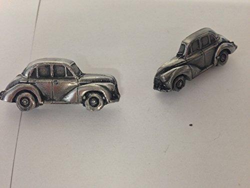 Morris Minor BERLINE 4 PORTES modèle tardive 3D Boutons de manchette Homme-Classique-Bouton De Manchette en étain effet ref167