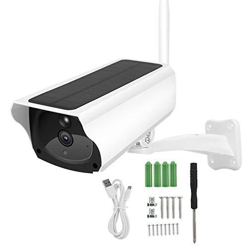 Cámara con energía Solar 1080P WiFi Cámara IP Detección de Movimiento Control Remoto Impermeable CCTV infrarrojo