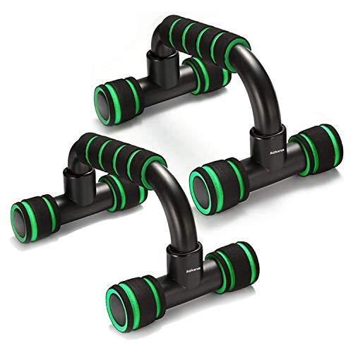 Adkwse Liegestützgriffe,2er-Set Push-Up Bars Professional Liegestütz Griff mit Rutschfestem,Komfort-Schaumstoff-Griff für Zuhause und Fitnessstudio Krafttraining (Grün)