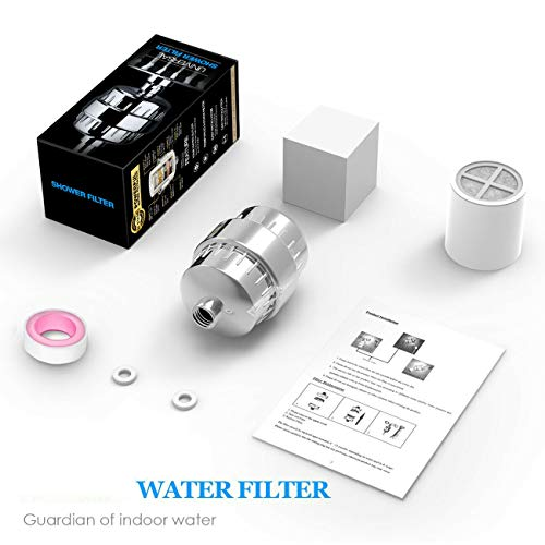 Best Prices! TUQI Premium Shower Filter 10-Stage Universal Head Water Purifier for Bath Hair
