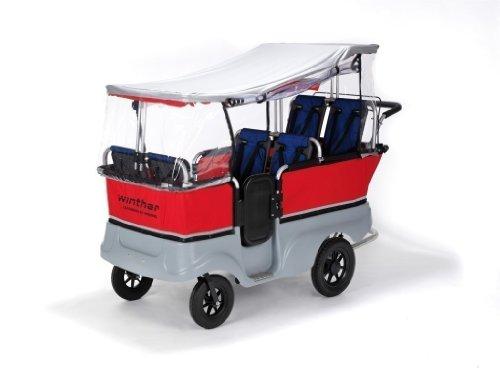 Regenschutz für den Turtle Kinderbus von Winther. Für Turtlebus 6-Sitzer (Modell 8900801)