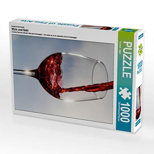 CALVENDO Puzzle Wein und Sekt 1000 Teile Lege-Größe 48 x 64 cm Foto-Puzzle Bild von Anette Jäger