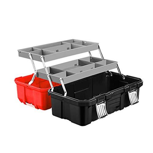 Caja de herramientas 19' Almacenamiento y Caja de herramientas for la herramienta o embarcaciones de almacenamiento, que traba la tapa y Almacenamiento extra organizadores, caja de almacenamiento port