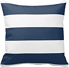 Best Pillow Cover and Insert Fashion Home Decorative Cotton Polyester Pillowcase 20 * 20 Inches Nautical Navy Blue And Whi...