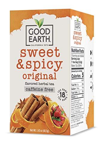 Good Earth Herbal Tea, Sweet & Spicy, Caffeine Free, 18 Tea Bags (Pack of 6)