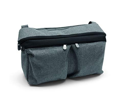 Bugaboo Universal Pushchair Organiser Bag, Attaches to Handlebar, Grey Melange