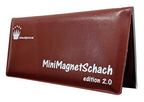 SchachQueen - Mini Magnet Schach 2.0 Reiseschach Dreifachklappbrett
