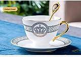 Tazas de café Taza Royal Bone China Viaje Arte Pintura cerámica Tazas Creativas Juego de cucharas Regalo decoración de Cocina Europea