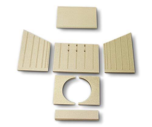 Feuerraumauskleidung für Wiking Logic Kaminöfen - Vermiculite - 7-teilig