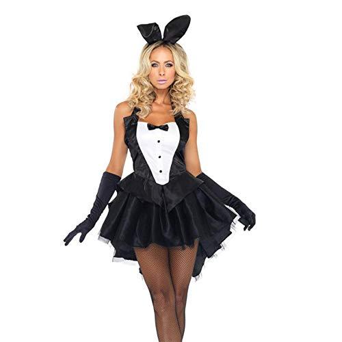 fagginakss Disfraz de Cosplay para Mujer,Traje de Conejita de Lujo Disfraz Vestido De Escenario para Fiesta, Baile, Carnaval,Fiesta,Halloween