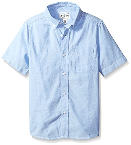 The Children's Place Boys' Little Short Sleeve Uniform Oxford Shirt, LTBLUOXFRD 4765, X-Small/4
