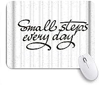 KAPANOUマウスパッド 小さなステップエブリデイブラック ゲーミング オフィス最適 高級感 おしゃれ 防水 耐久性が良い 滑り止めゴム底 ゲーミングなど適用 マウス 用ノートブックコンピュータマウスマット