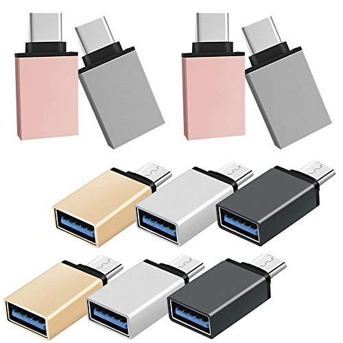 Juego de 10 adaptadores USB C a USB 3.0 de SourceTon de aluminio Thunderbolt 3 a USB compatible con dispositivos tipo C