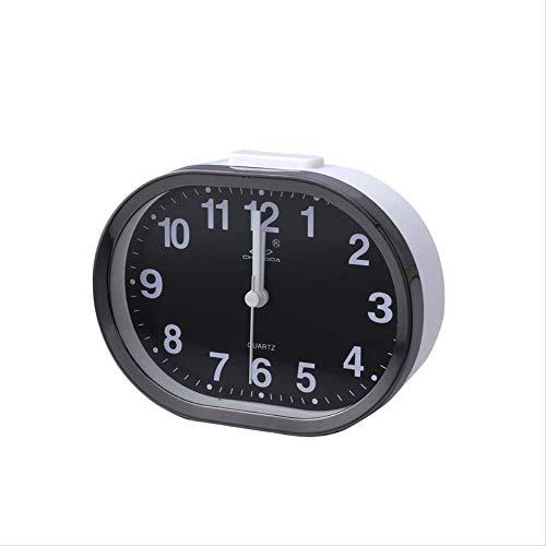 yywl Alarm Klok Creatieve Ovale Elektronische Stille Kwarts Analoge Reizen Alarm Klok Met Snooze Licht Oplopende Geluid Alarm Zachte Wekker Voor Kinderen