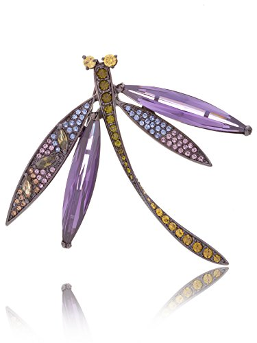 Laura & Alexander Jewelry Mágico Morado Oscuro circonita libélula Broche Pines Joyas en Caja de Regalo |Mothers Day Gifts