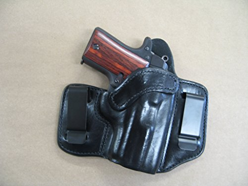 Azula IWB 2 Clip Leather in The Waistband Concealed Carry Holster for Kimber Micro 9 9mm Black RH