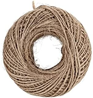Mumoo Bear 100M Natural Burlap Hessian Jute Twine Cord Hemp Rope String 2mm Rustic Wrap Gift Packing String Wedding Decora...