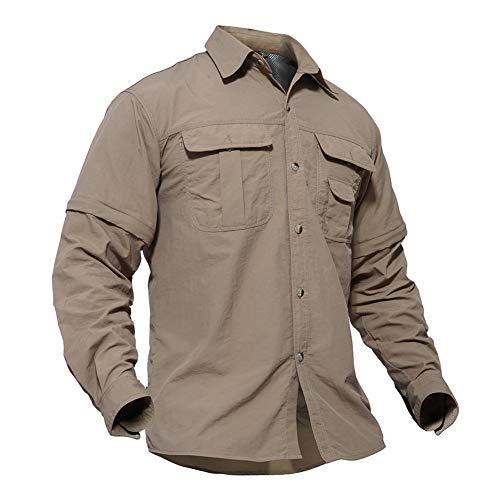 TACVASEN Casual Shirt Herren Outdoor Shirt Atmungsaktiv Wandershirt Langarm Militär Shirt Tactical Golf Polo Schnelltrocknend Langarmshirt Frühling Sommer Hemd Quick Dry UV-Schutz Shirt