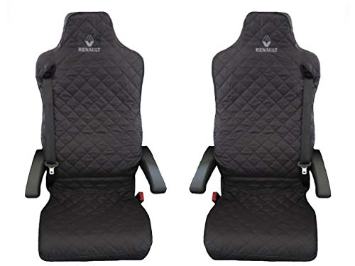 Renault T C after 2016 Truck Seat Covers BLACK 2 piece