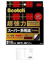 3M スコッチ 超強力両面テープ スーパー多用途 15mm×10m 1巻 PPS-15 + 画材屋ドットコム ポストカードA