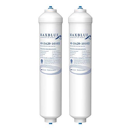 Maxblue DA29-10105J Filtro Acqua per Frigorifero, Compatibile con Samsung(Solo Esterno) DA29-10105J DA99-02131B HAFEX EXP DA2010CB 5231JA2010B Wpro USC100 1 USC100 BL-9808 WSF-100 (2)