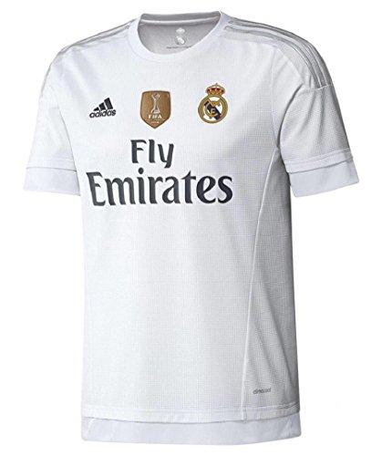 adidas Real H JSY YWC - Camiseta para niño, Color Blanco/Gris, Talla 164
