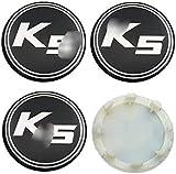 JIEMIANY 4-teiliges Auto Rad Radnabenkappen, Radnabenkappe Logo Aluminium für Kia K2 K3 K5 K7 Rio Sportage Sorento Optima Oprius Forte...