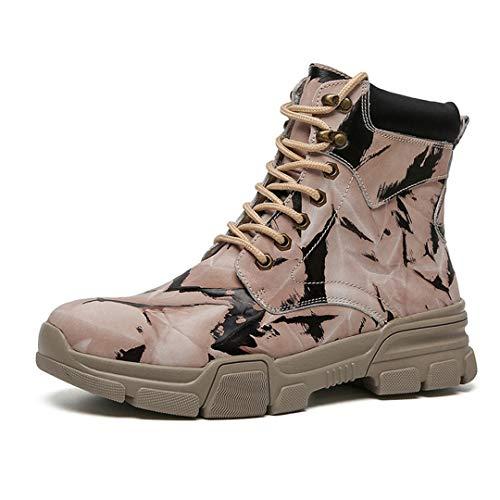 Unisexe Randonnée Tactical Bottes de Neige d'hiver Waterproof Boot Montagne Trekking Chaussures Militaires 9829brown 7