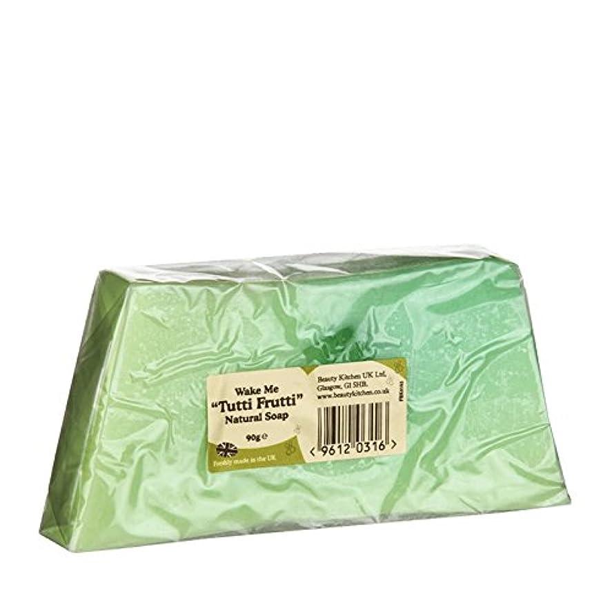振動する土砂降り抱擁Beauty Kitchen Wake Me Tutti Frutti Natural Soap 90g (Pack of 2) - 美しさのキッチンは私トゥッティフルッティの天然石鹸90グラムウェイク (x2) [並行輸入品]