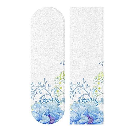 Nastro per skateboard, colore blu pavone, per longboard, scooter, carta vetrata per rollboard, scale, pedali, sedia a rotelle, gradini, 1 foglio