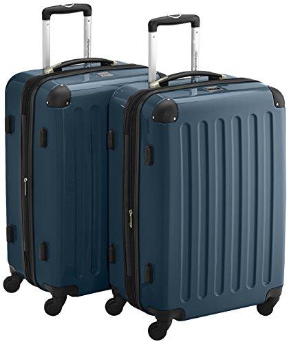 HAUPTSTADTKOFFER - Alex - 2er Koffer-Set Hartschale glänzend, TSA, 65 cm, 74 Liter, Waldgrün